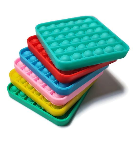 Pop-it vierkant Effen gekleurd