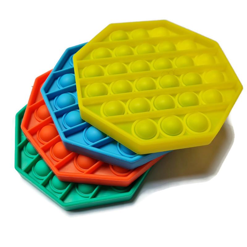 Pop-it Achthoek effen gekleurd