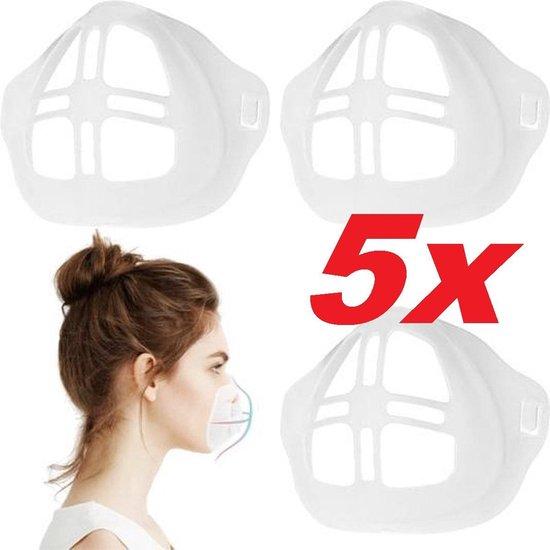 Innermask Silicone Mondkapjes(5 st.)