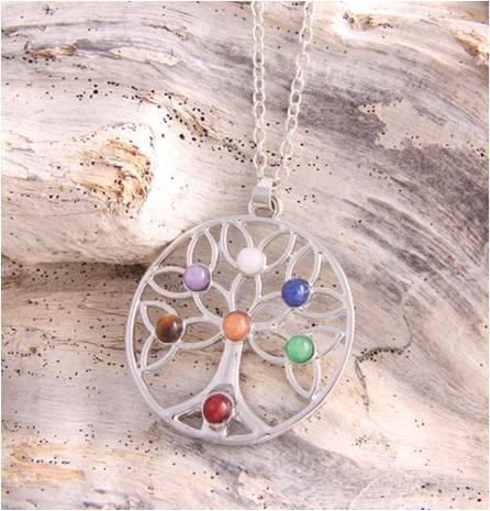Necklace Tree of life stones III