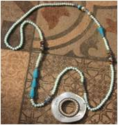 Necklace strassed Circle