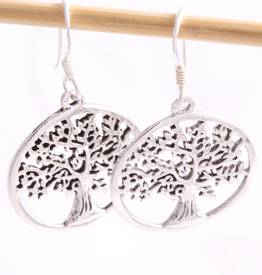 Silver Pendant Earring Tree of Life