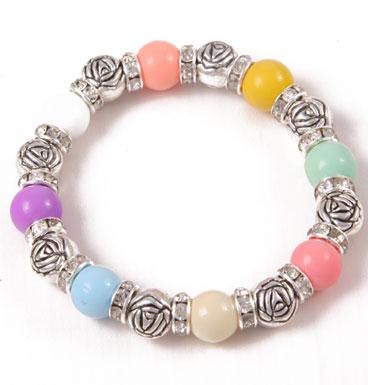 bracelet Soft color and roses