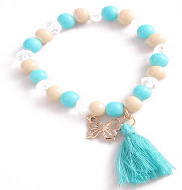 armband Golden butterfly and tassle