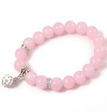 bracelet Soft color and strass ball II