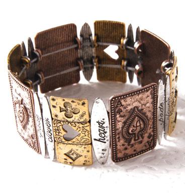 Bracelet Ace and hearts