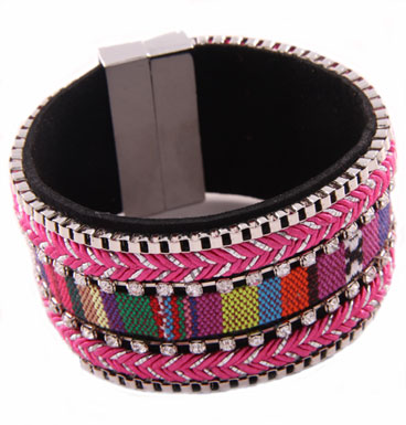 Armband Colorfull magnet Pink