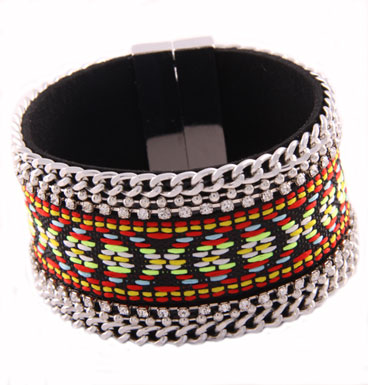 Armband Colorfull Magnet Black