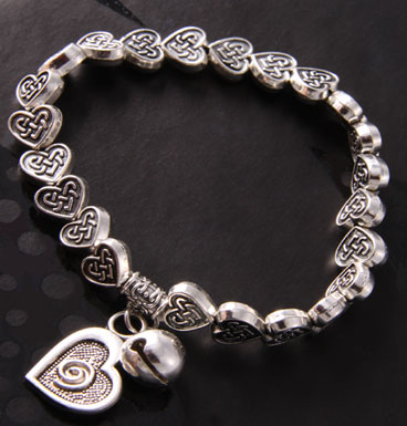 Armband Celtic heart and bell