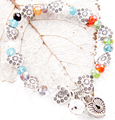 Armband Colorfull hearts and bell