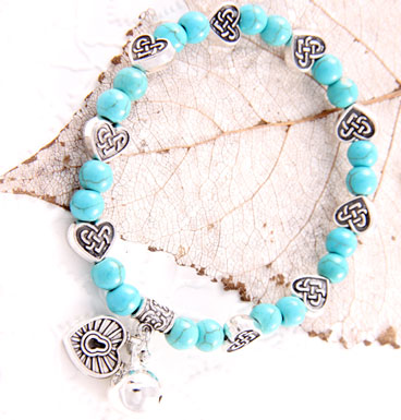 Armband Blue circle of celtic hearts