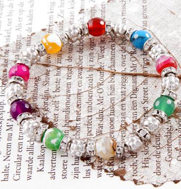 Bracelet Semi Precious and Flowers II