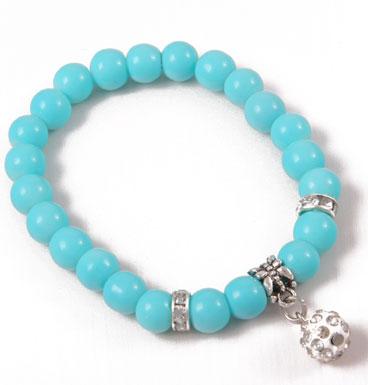 bracelet Soft color and strass ball I
