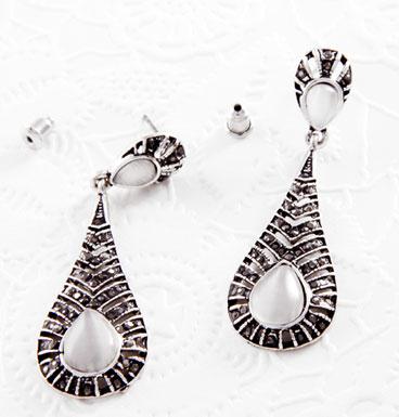 Earrings Markazite dropshape