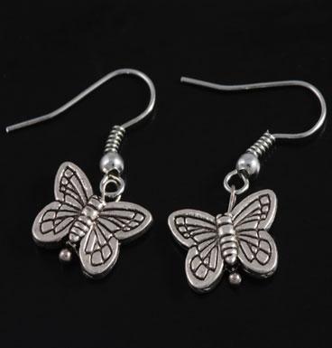 Oorbellen Single butterfly kisses