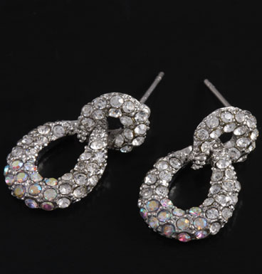 Earrings Infinity strass