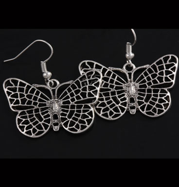 Earrings Map Butterfly