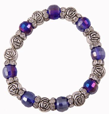 Bracelet Roses & Crystals