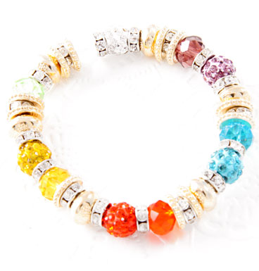 Bracelet Colorfull Shamballa and Gold
