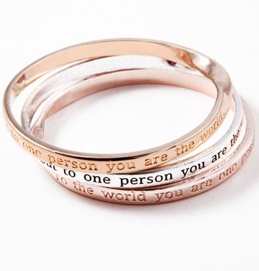 Armbanden Inspiration Message