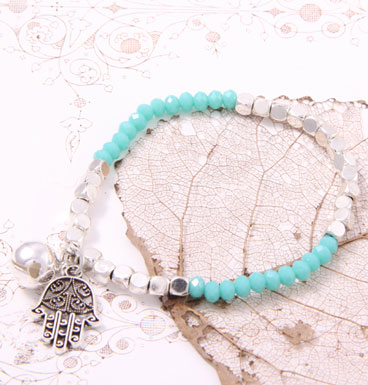 Armband Lucky Hand and Turquoise tassel