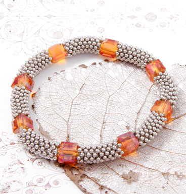 Armband Porky Pine and Squared Crystals