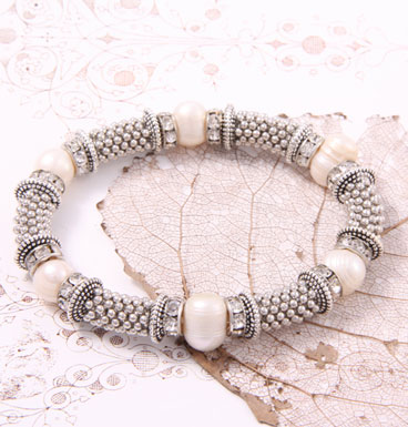 Armband Porky Pine and Sweet water Pearl