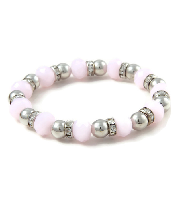 Armband Strass and Soft Pink Crystals