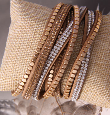 Armband Gold Studs and Strass