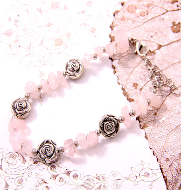 Armband Tumble Stones and Roses
