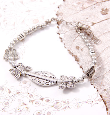 Armband butterflies and leaf