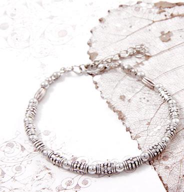 Armband silver beads
