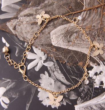 Enkelbandje butterfly (gold)