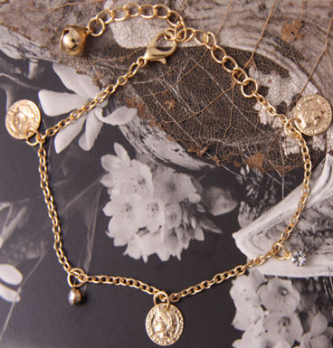 Enkelbandje pecunia (gold)