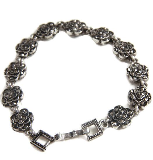 Bracelet marcasite roses