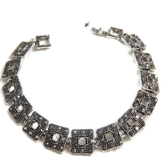 Bracelet marcasite squares
