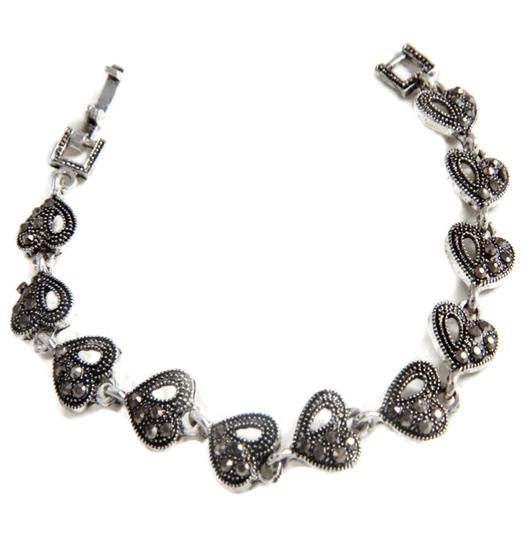 Bracelet marcasite hearts