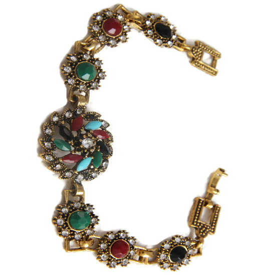 Bracelet marcasite and color classic
