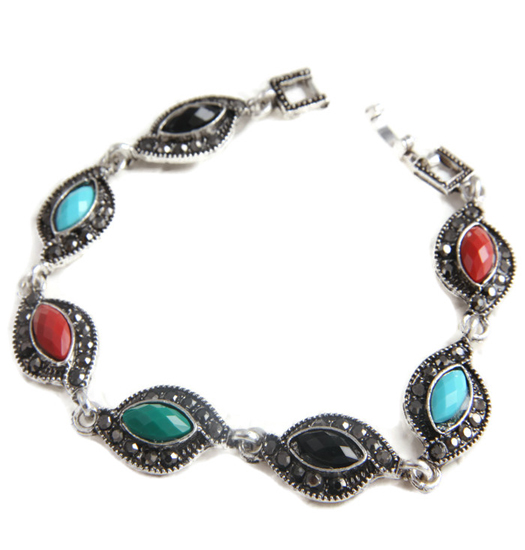 Bracelet marcasite and color twist