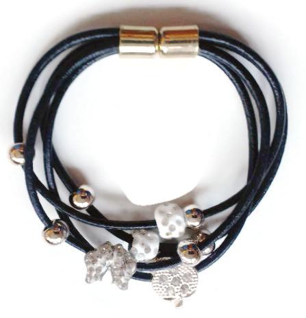 Bracelet Multi Strand and Charms butterfly