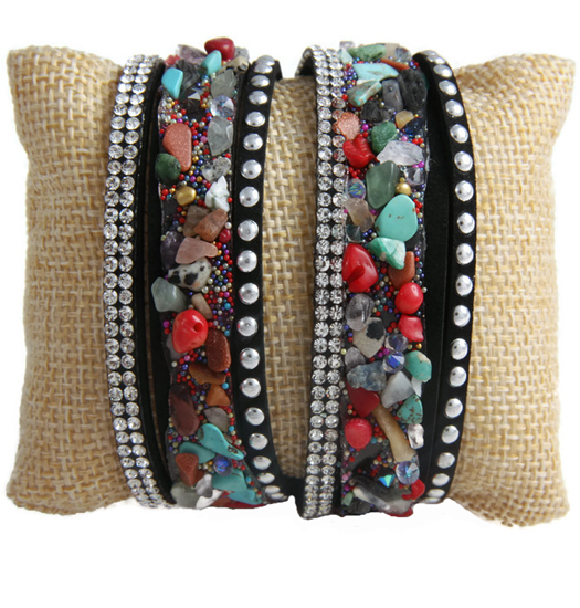 Bracelet Tumbled Stones Wrap