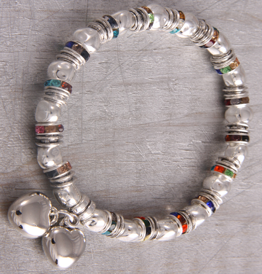 armbanden colored strass