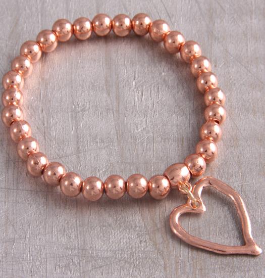 Bracelet liquid heart rosegold