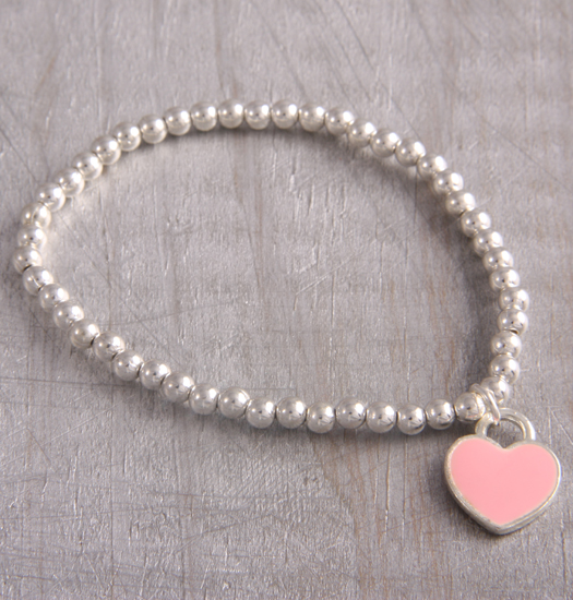 Bracelet pink heart