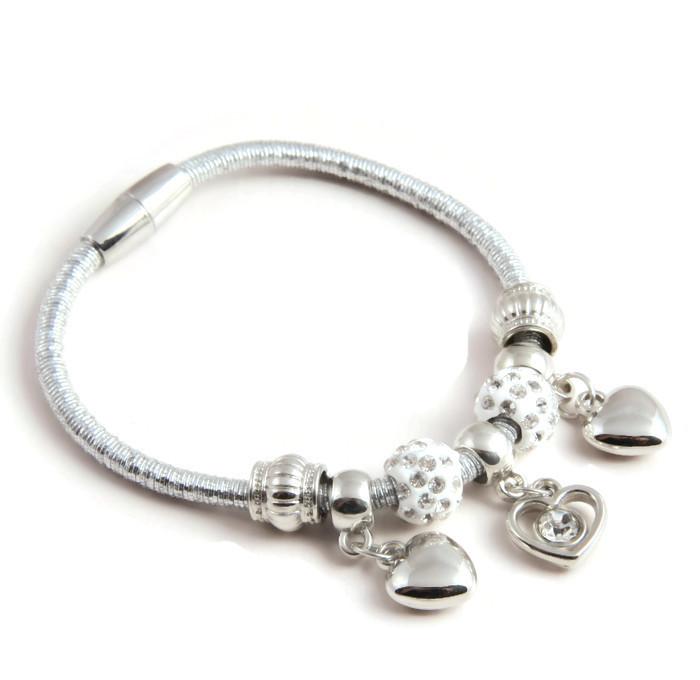 Bracelet Charms and triple heart