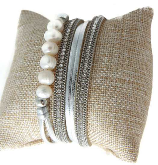 Wrap with sweet water pearls