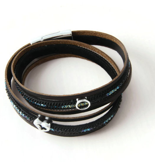 Bracelet Wrap with Circle and Heart