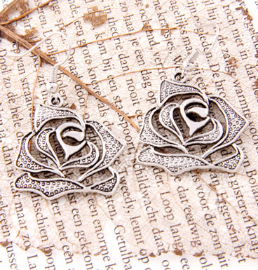 Earrings Rose silhouette