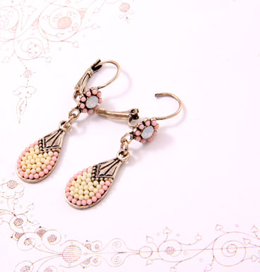 Earrings Soft colored droplets