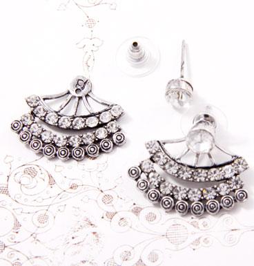 Earrings Double Line Strassed II